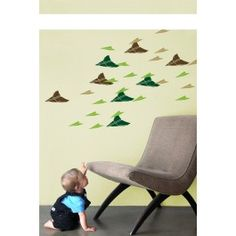 Blik Wall Decal - Flying Paper Plane #blikwalldecals