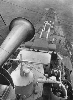 The German Navy Ship, the Bismarck at sea just before it was sunk on it's first mission 1941. Unknown Nazi photographer, link to more pics and story in comments via reddit[[MORE]]trooper843:Possible NSFW because of website The Brigade http://thebrigade.com/2015/01/14/story-of-sinking-the-bismarck-26-photos-and-story/
