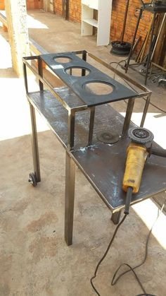 Outdoor Cooking Stove, Outdoor Bbq Kitchen, Outdoor Stove, Diy Wood Stove, Antique Wood Stove, Diy Rocket Stove, Rocket Stoves, Bbq Grill Diy, Barbecue