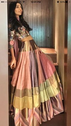 Indian Lehenga, Indian Gowns, Indian Attire, Indian Ethnic Wear, Indian Wedding Outfits, Indian Outfits, Indian Clothes, Churidar, Anarkali