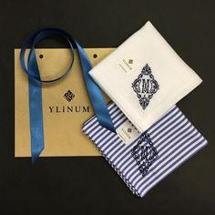 上質な一枚に癒される♡「YLiNUM」刺繍イニシャル入りハンカチ | by.S
