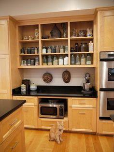 Kitchen baking center ideas on pinterest baking center baking station and kitchen pantries Kitchen design baking center