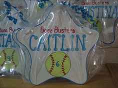 Personalized Kids Party Favor Softball Room Sign, Nursery Decor- All Sports, Basketball, Soccer,, Baseball, Football- Princess.- Any theme by KUTEKUSTOMKREATIONS on Etsy Nursery Signs, Room Signs, Nursery Decor, Softball Room, Personalized Party Favors, Kid Party Favors, Star Ornament, Personalized Christmas Ornaments, Birthday Parties