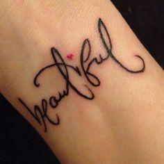The font, the word, the tatt!!