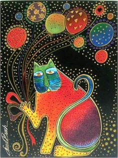 "Items similar to Laurel Burch ""Carnival Cat"" Wall Décor on Etsy Cat Painting, Folk Art, Animal Art, Laurel Burch, Whimsy, Laurel Burch Art, Art, Laurel Burch Fabric, Laurel Burch Cats"