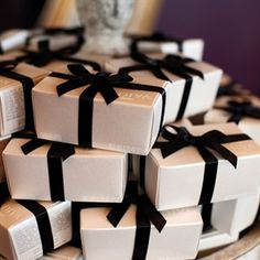 Chocolate truffle favors