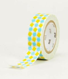 MT Japanese Masking Tape - Square Yellow