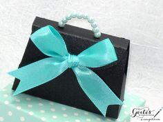 Mini Tiffany Paper Purse - Breakfast at Tiffany's Party Favors - Tiffany Blue Decorations - Tiffany Party Favors - Pearls