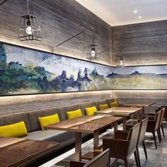 Top Interior Designers: Hirsch Bedner Associates HBA/Hirsch Bedner Associates, unveils the world 's most anticipated. Interior Design Awards, Top Interior Designers, Interior Design Companies, Cafe Interior, Interior And Exterior, Cafe Design, House Design, Lounge, Hospitality Design