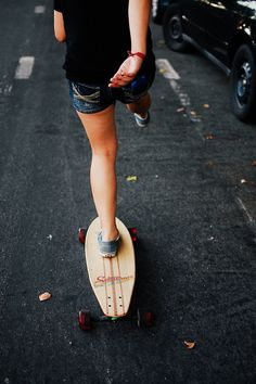 Longboard, longboarding, skateboard, skater girl, tomboy at heart