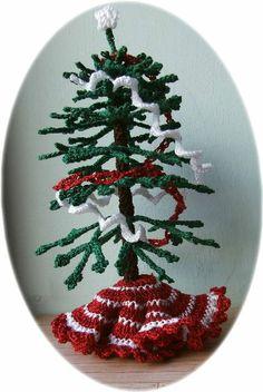 Crochet Christmas tree ~ Advent Calendar ~ free pattern ᛡ