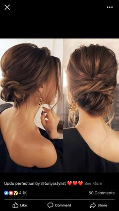 Pretty Soft Low Bun Updo / Bridal Hair Wedding Hair (No . - Pretty Soft Low Bun Updo / Bridal Hair Wedding Hair (n … – - Wedding Hair And Makeup, Hair Makeup, Low Bun Wedding Hair, Wedding Up Do, Low Bridal Updo, Chignon Updo Wedding, Bridal Hair Updo Elegant, Messy Bridal Hair, Hair Up Styles Wedding