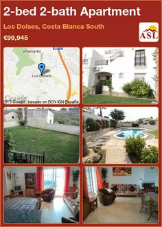2-bed 2-bath Apartment in Los Dolses, Costa Blanca South ►€99,945 #PropertyForSaleInSpain