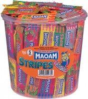 Haribo Maoam Stripes, Kaubonbon, 150 Stück Bonbons Kaubonbon Weich-Bonbons