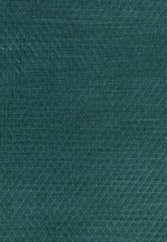 Paley Quilted Velvet in Peacock, 66924. http://www.fschumacher.com/search/ProductDetail.aspx?sku=66924 #Schumacher