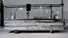Mobile Restaurant with wheels - possible use of my material (cast polyamide) for the wheels