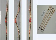 Sioux sheep horn bow with arrows.  NMNH  ac