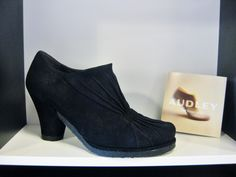 Audley London black slip-on suede bootie