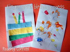 Cute Fingerprint Birthday Cards