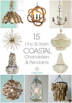 15 Coastal Chandeliers and Pendants
