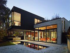 modern Cedarvale Ravine House exterior Infill Residential Project in Toronto: Cedarvale Ravine House