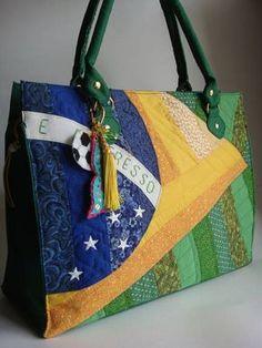 Bolsa Sacola Bandeiras - Brasil   Sonoe BAG  - Elo7