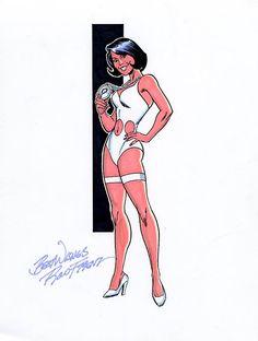 Phantom Girl by Ron Frenz Comic Book Girl, Comic Book Artists, Comic Books Art, Comic Book Characters, Marvel Characters, Comic Character, Marvel Dc, Dc Speedsters, Dc Comics
