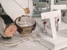 Make your own set! Watches, earrings, necklaces and more. Gemstones, diamonds, gold, and silver.