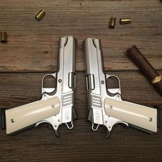 A custom set of left and right hand S103 Commanders. I trust you are enjoying them N.N. Thanks for commissioning this pistol set. Take care out there keeping our country free and safe. #mirrorimagepistolset