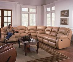 Southern Motion Furniture: Cagney Sectional Sofa with Recliner #homedecor #sectional #recline