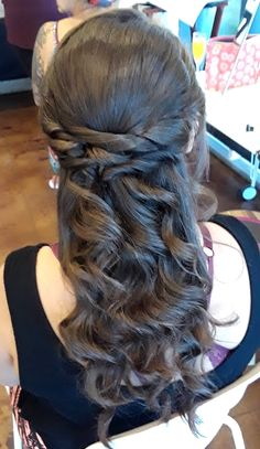 back to the twisted half up and down today Half Up, Long Hair Styles, Beauty, Long Hair Hairdos, Cosmetology, Long Hairstyles, Long Haircuts, Long Hair Dos