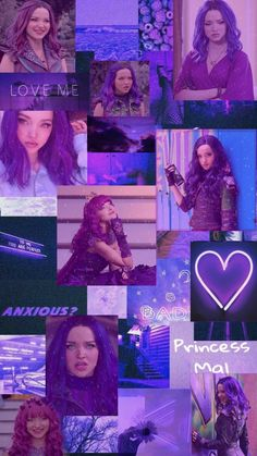 Pink Wallpaper Girly, Bad Girl Wallpaper, Aesthetic Pastel Wallpaper, Purple Wallpaper Iphone, Wallpaper Iphone Disney, Cute Backgrounds For Phones, Disney Descendants Movie, Kitten Drawing, Mal And Evie