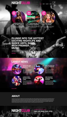 Night Club #WordPress #Responsive Theme