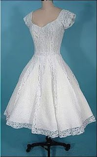 vintage wedding dress- note the contrasting gores in the skirt