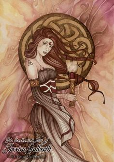 Celtic Witch ~ Jessica Galbreth  Old art from before.
