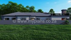 4 Bedroom House Plan - My Building Plans South Africa 4 Bedroom House Plans, My House Plans, Family House Plans, My Building, Building Plans, Open Plan, South Africa, Master Bedroom, Shed
