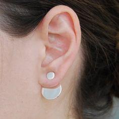 Kreisförmige Silber Ohr Jacken  zwei-Weg-Ohrringe von OtisJaxon