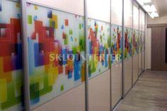 Kuchynské zásteny - grafické sklo