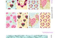 """HORIZONTAL """"Paris Sweet Love"""" Valentine's day Erin Condren Planner Sticker Kit - MyPrettyPaperDesigns"""