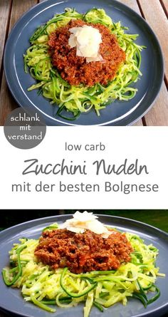 Zucchini Nudeln Bolognese – low carb Zucchini Pasta Bolognese - Low Carb - Low Carb Recipes - Slim M Low Calorie Recipes Crockpot, Healthy Low Calorie Meals, Easy Soup Recipes, Healthy Chicken Recipes, Diet Recipes, Dinner Healthy, Cookbook Recipes, Vegetarian Meals, Dessert Recipes