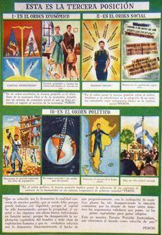 Afiche Ideales Peronistas Comic Books, Baseball Cards, Comics, Dani, Victoria, Socialism, The World, Social Order, Military Dictatorship