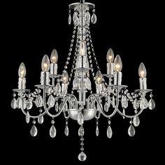 Kronleuchter Arthus Chrom 9 Kerzen Klassisch Kristall #kerzen #klassisch  #licht #lampen Hier
