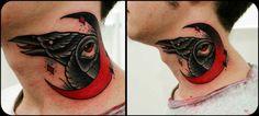 Eye Raven in the Moon tattoo