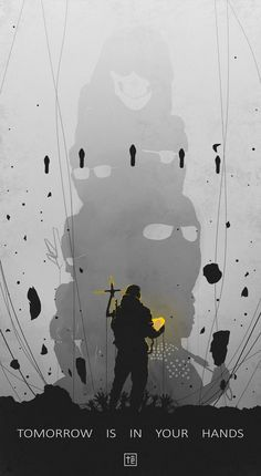 """Tomorrow is in Your Hands (""""Death Stranding"""" Fan-Art. Dead Stranding, Kojima Productions, Best Gaming Wallpapers, Red Dead Redemption, Futuristic Design, Detroit Become Human, Black Wallpaper, Photography Backdrops, Game Art"""