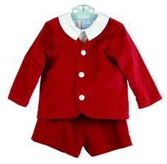 NEW Gordon and Company Red Velvet Eton Suit $100.00 #ValentinesPortrait