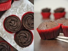 Krümelkreationen: Vegane Schokoladen-Cupcakes