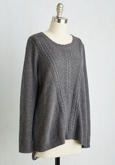 Outstanding Originality Sweater. Elevate your sweater game with this uniquely stylish pullover! #grey #modcloth