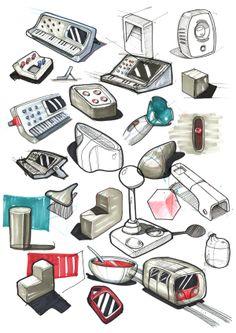 Sketchbook January 2014 by Esben Oxholm, via Behance