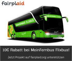 Jetzt #fairplaid Projekt unterstützen und Dir dafür einen 10 Euro Gutschein von #flixbus holen: https://www.fairplaid.org/Gutscheine/Gutschein-Detail/vid/145