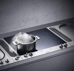 Vario Induction Cooktop 200 Series - The VI 260 is an efficient, 60 cm wide induction cooktop for fast, precise cooking. Thanks to automatic pot detection, the heat develops directly at the bottom of the pot and therefore doesn't have to be transmitted from the cooktop to the pot. The booster function temporarily increases the performance of any cooking zone by about 50 percent making it ideal for intensive searing and rapid heating of large quantities of liquid.